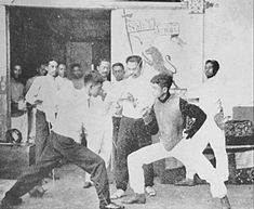 Sala de Armas - fencing school 1894 Owned operated by brothers Antonio and Juan Luna along Calle Alix (present day Legarda St), Sampaloc, Manila Emilio Aguinaldo, President Of The Philippines, Military Honors, The Spanish American War, Filipiniana, Cultural Studies, Vintage Pictures, Manila, The Past