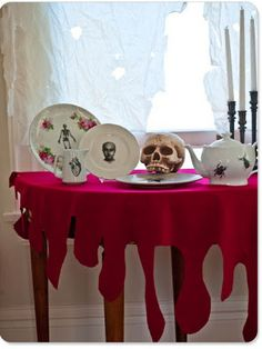 Blood Drip Tablecloth DIY