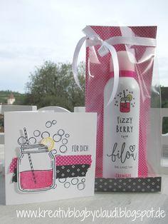 Kreativ Blog by Claudi: Pink mit Pep meets Glasklare Grüße