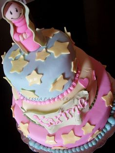 Virgencita cake, baptism