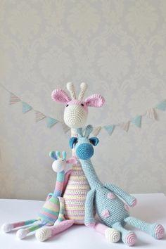 Crochet Amigurumi Giraffe Custom Made Giraffe by KornflakeStew, £45.00