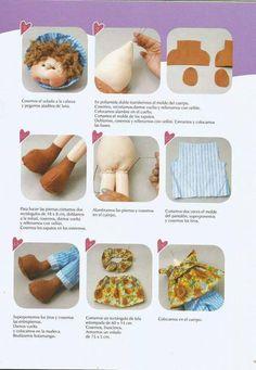 Revista muñequeria soft. Encontraras los patrones y DIY de vaquita, abejita, pirata, conejita, brujita y muñeca romántica soft.