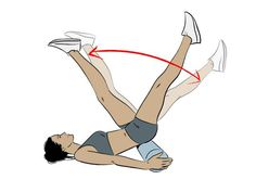 toe touches - abs workout