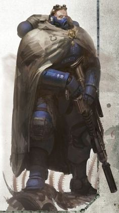 Vanguard Space Marine Eliminator from Ultramarines Legion/Chapter I relly like that special-ops look of the new rage of Vanguard's :) Warhammer 40k Art, Warhammer 40k Miniatures, Warhammer Fantasy, Character Concept, Character Art, Concept Art, Ultramarines, Deathwatch, Star Trek Voyager