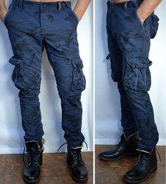 557e67a98a0 Superdry Mens, Camo Shirts, Blue Camo, Camo Outfits, Cargo Pants, Men's
