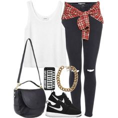 """""""Outfit ft. Nike Roshe"""" by fashionbyedith on Polyvore"""