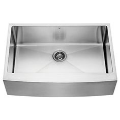 VIGO 33inch Farmhouse Stainless Steel 16 Gauge Single Bowl Kitchen Sink with Rounded Edge * Continue to the product at the image link-affiliate link.