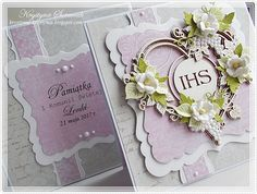 Krystynas i jej papierowy świat: Pierwsza Komunia Cute Cards, Holi, Advent, Scrapbooking, Frame, Picture Frame, Pretty Cards, Holi Celebration, Scrapbooks