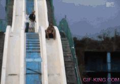 Water Slide Fail