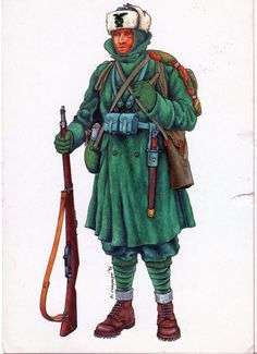 Italian Army Alpino at eastern front, pin by Paolo Marzioli