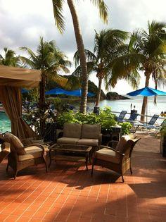 Bolongo Bay Beach Resort, St. Thomas, USVI, All Inclusive Resort, Caribbean Vacation, The Lobster Grille Restaurant, Pooldeck