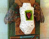 Assemblage Art Found Objects Mixed Media Soaring with by nunnsense