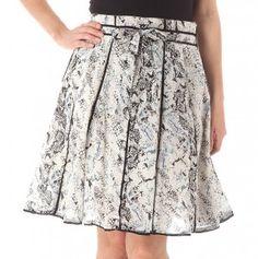 Pleated Tie Waist Skirt
