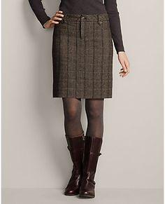 Classic Wool-blend Skirt - Pattern | Eddie Bauer
