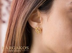 Karma created for an eye catching appearance. Brought to life with flat and curved shapes to express endless forms. Circle Earrings, Gold Earrings, Solid Gold, White Gold, Hammered Gold, Athens Greece, Minimalist Jewelry, Gold Studs, Karma