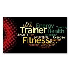 Personal Trainer Business Card. Make your own business card with this great design. All you need is to add your info to this template. Click the image to try it out!