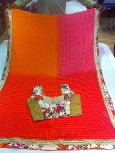 BINNY GEORGETT DESIGNER SHADED SAREE | BUY ONLINE SAREES | Elegant Fashion Wear Price;4999 #latest #shaded #saree #floral #printed #blouse