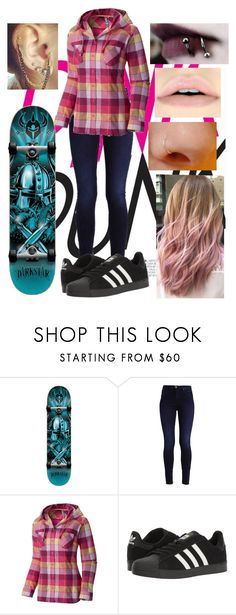 """Skater girl"" by tomboygeek ❤ liked on Polyvore featuring Darkstar, Mountain Hardwear and adidas"
