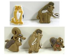 Set of 5 Ice Age Shoe Charms, Shoe Snap on Decoration, Charms, Buttons, Widgets, for Clogs, Crocs, and Bracelets by Ice Age. $12.99