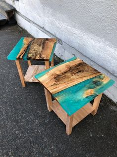 Epoxy Wood Table, Epoxy Table Top, Epoxy Resin Table, Diy Table Top, Epoxy Resin Art, Resin Crafts, Wood Crafts, Walnut Table, End Tables