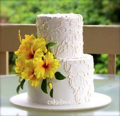 yellow hibiscus cake by Rick Reichart, cakelava