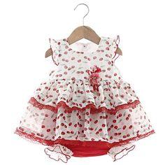 Vestido e Calcinha Cecilia Vermelho - Beth Bebê