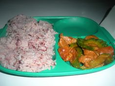 The Igorot brown rice part of combo meal in Pico market