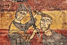 David y Goliat - Pintura Románica, Santa María de Taüll