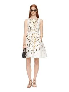 scattered daisy fit and flare dress - Kate Spade New York