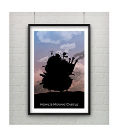 Howl's Moving Castle Print  Howl's Moving by CaptainsPrintShop