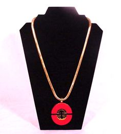 """70's Huge 3"""" """"Lanvin Style"""" Lucite Runway Pendant Necklace available at PILGRIM NYC"""