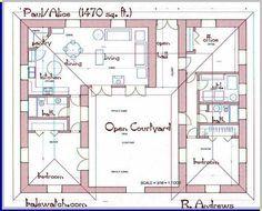 U Shaped House Plans With Courtyard u shaped house plans with central courtyard - google search | u