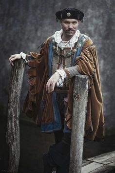 Cesare Borgia costume, late 15th century style, reproduction made by Angela Mombers.  Picture taken at Elfia Arcen  2015 by Henk van Rijssen.