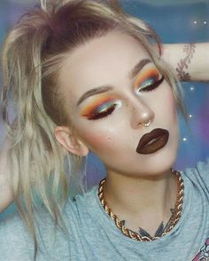 """ponytail headache eye details in previous post LIPS #lasplash """"persephone"""" metallic lip couture liquid lipstick FACE #ofracosmetics silk peptide foundation 01 @ofracosmetics cream contour kit + beverly hills highlighter + chameleon blush. COUPON CODE itslikelymakeup for 30% off. quickly becoming a favorite makeup brand! cruelty free https://www.ofracosmetics.com/collections/bronzers-marbles-shimmers-stripes/products/beverly-hills-highlighter"""