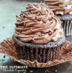 The Ultimate Chocolate Cupcakes. Extremely moist cupcakes topped with the best and creamiest, fudgy buttercream frosting! Youll never need another chocolate cupcake OR chocolate buttercream recipe again!