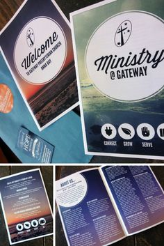Gateway Welcome Pack. We created a little welcome pack for visitors to our Church. It includes a booklet about our Church Church Ministry, Ministry Ideas, Youth Ministry, Church Welcome Center, Church Foyer, Welcome Packet, Church Graphic Design, Church Logo, Church Stage Design