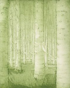 Ariadne's Thread IV - Ariadnen lanka IV.  Leena Talvitie, 2003. Printmaking, etching.