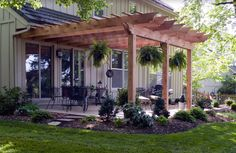 Pergola attached to the house. Nice touch.