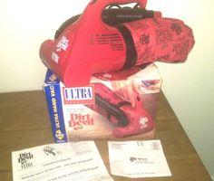 ROYAL Dirt Devil Ultra Hand Held Vac Vacuum, Model 08230 Red Tested Working  #ROYALDirtDevil