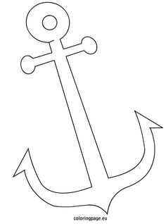 Anchor coloring page for string art.
