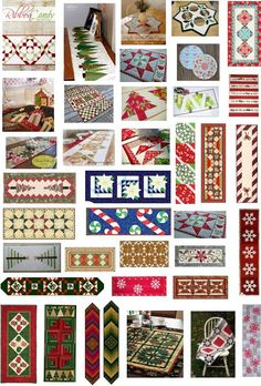 Free pattern day: Christmas 2015 (part 4). 50 free patterns for table runners and table toppers.
