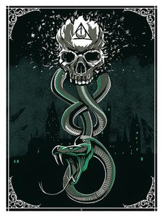 """The Dark Mark"" Print by The Dark Inker (via Inside the Rock Poster Frame)"