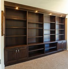 Decoration: Enchanting Built In Bookcase Designs: Built In ...