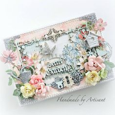 Gilded Lily and Botanical Tea canvas by Aneta Matuszewska