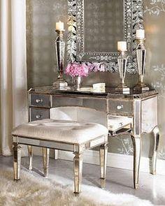 Boudoir-Inspired Vanity Desk