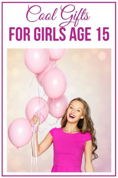 Cool Gifts For Girls Age 15 Get the best gift ideas for a 15 year old girl. Find unique, fun and awesome gift ideas for teen gi Top Gifts For Girls, Teenage Girl Gifts, Gifts For Teens, Gifts For Mom, Cool Gifts, Unique Gifts, Quinceanera Gifts, 14 Year Old Girl, Christmas Gifts For Girls