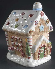*GINGERBREAD HOUSE, Replacements, Ltd. Search: Cookie jar