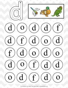 Your little one will love this lowercase do a dot letter printables series! There is a do a dot printable for each lowercase letter of the alphabet. Free Printable Alphabet Worksheets, Letter Worksheets For Preschool, Phonics Worksheets, Preschool Letters, Dot Letters, Letter D, Do A Dot, Alphabet Coloring Pages, Letter Recognition