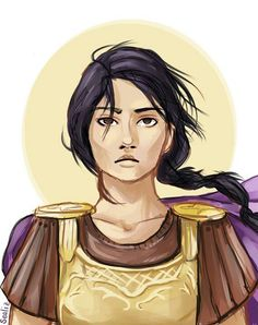 Reyna Avila Ramirez-Arellano, Praetor of the Twelfth Legion. She kinda looks like Pocahontas in this drawing