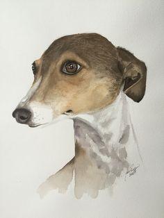"Watercolor dog portrait of ""Pookie""- Jan Riggins Custom Fine Art Dog Portraits, Custom Art, Art Boards, Art Projects, My Arts, Watercolor, Fine Art, Pets, Animals"